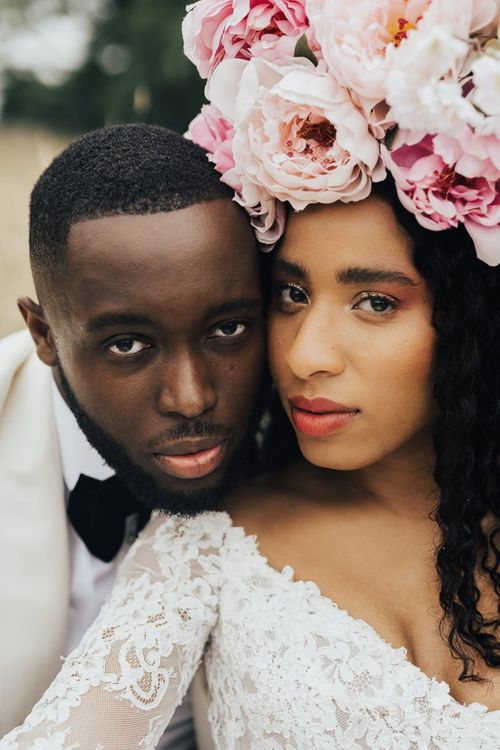 Natural bridal makeup for black bride