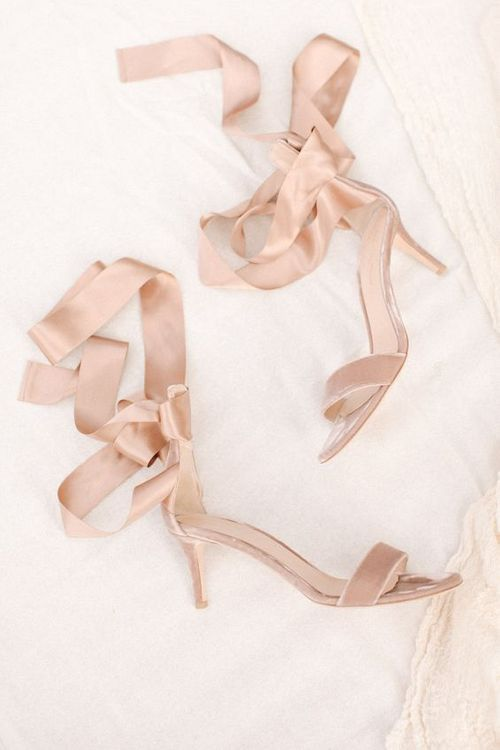 Blush Pink Ribboned Gianvito Rossi Wedding Shoes | Contemporary Elegance Wedding in the Countryside | M & J Photography | Film by Jacob and Pauline
