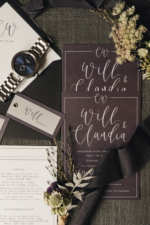 Monochrome Wedding stationery suite