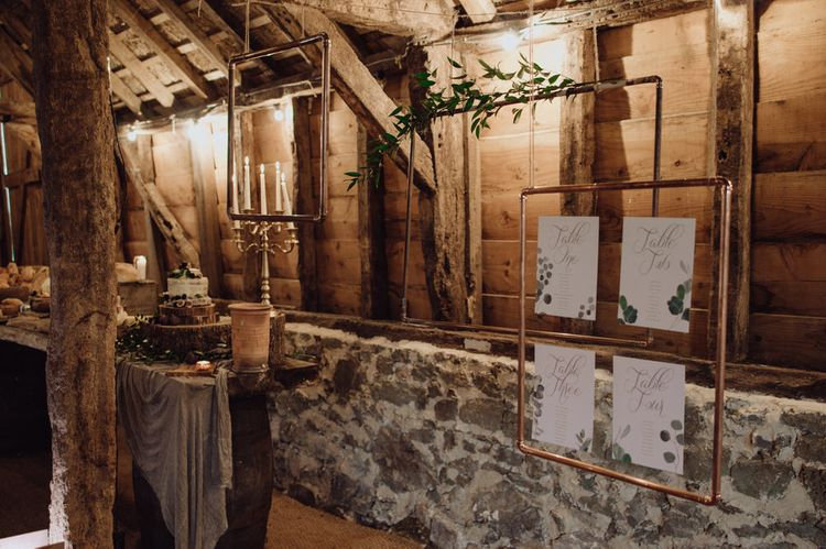 Copper Piping Table Plan For Wedding // From Sally With Love