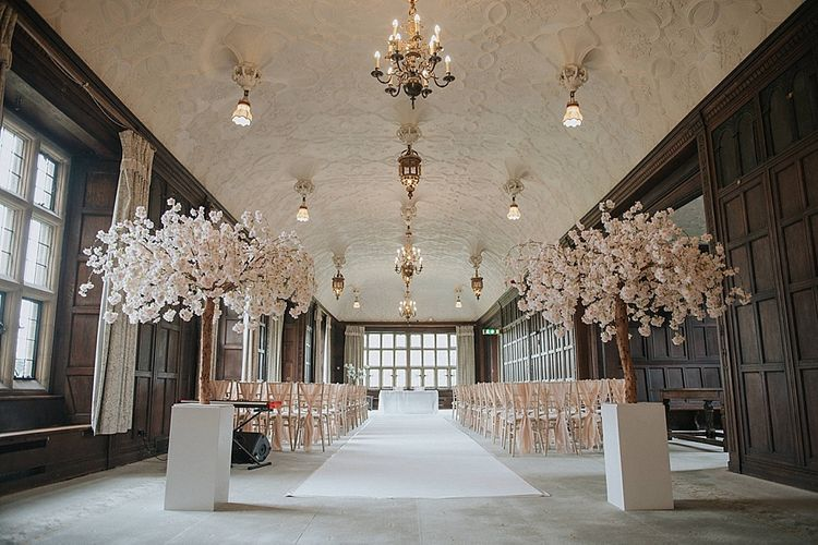 Fanhams Hall Wedding Venue Ceremony Set Up