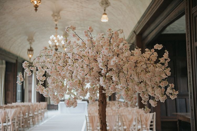 Pink Blossom Tree Wedding Decor