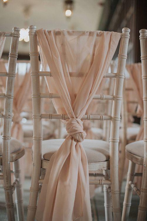 Wedding Chair Tie Backs In Pink