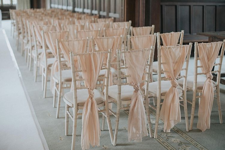 Wedding Chair Decor In Pink for Ceremony
