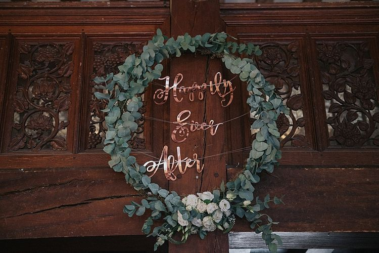 Foliage Hoop With Happily Ever After Bunting