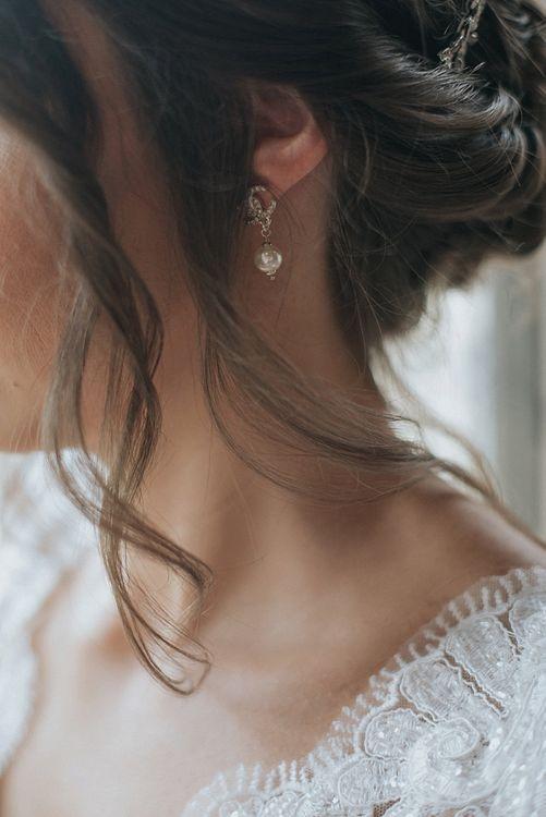 Chanel Pearl Drop Earrings