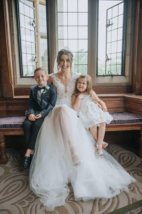 Riki Dalal Bride Dress and Kids at Wedding