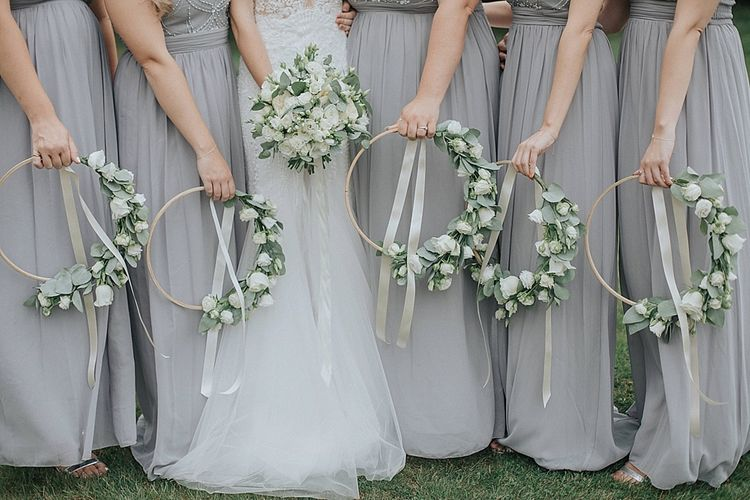 Bride Bouqet and Bridesmaid Hoop Bouquets