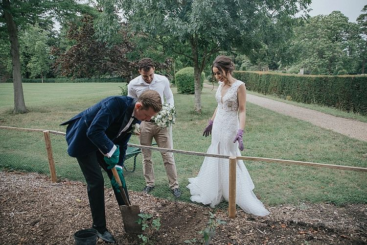 Tree Planting Ceremony During Wedding Day