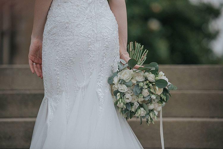 White And Green Wedding Flower Bouquet