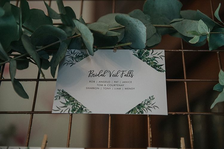 Table Setting Stationery with Foliage