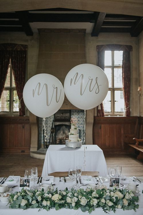 Mr & Mrs Balloons for Reception