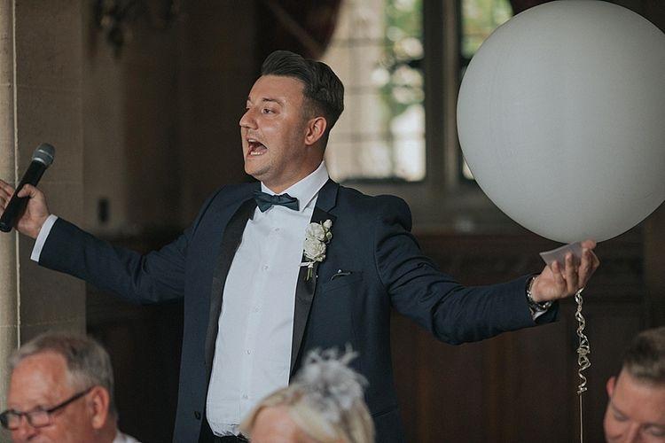 Wedding Speeches With Groomsmen in Tux