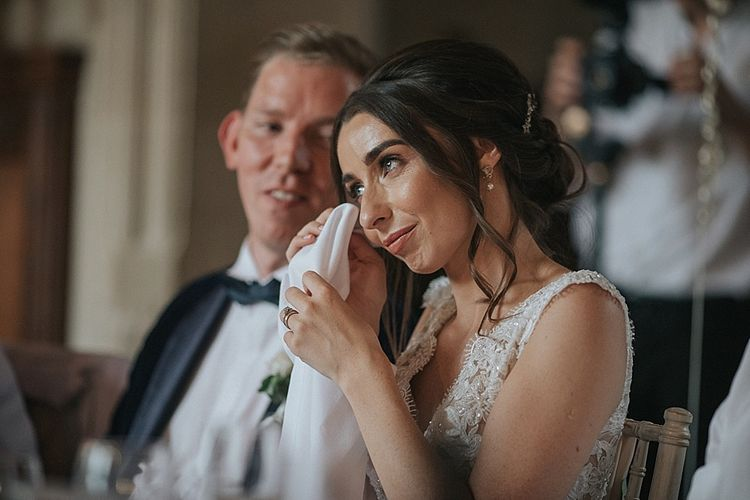 Bride Emotional During Reception