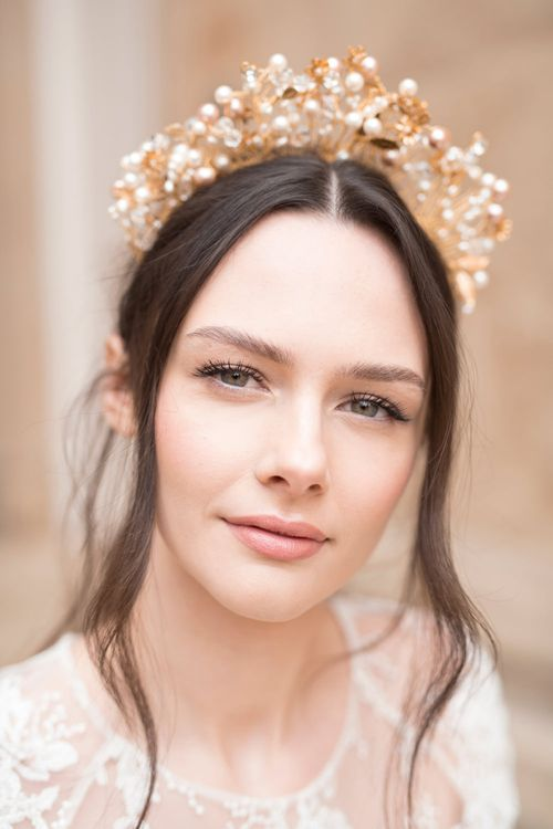 Beaded Bridal Crown