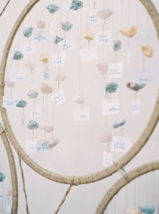 Crystal Table Plan For Wedding // A Very Beloved Wedding // Image By Ashley Ludaescher