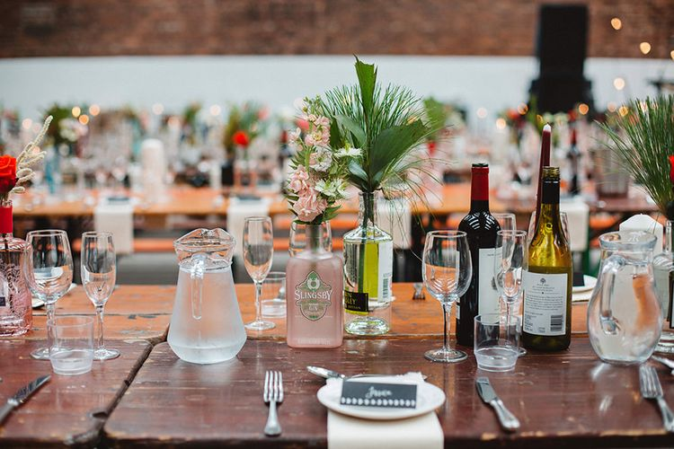 Tablescape | Contemporary Wedding at Industrial Venue 92 Burton Road, Sheffield | Maytree Photography