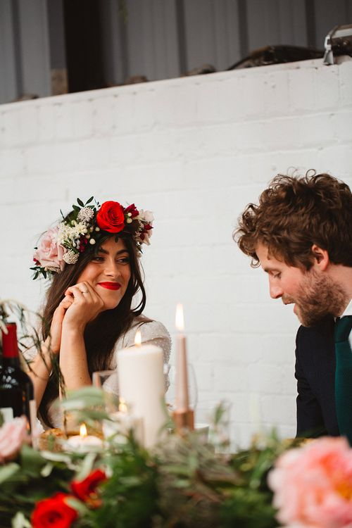 Wedding Reception | Contemporary Wedding at Industrial Venue 92 Burton Road, Sheffield | Maytree Photography