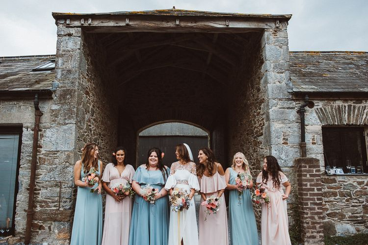 Bridal Party in Pastel Pink & Blue Show Me Your Mumu Dresses