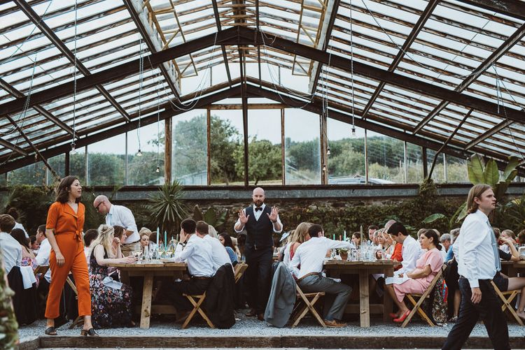Wedding Guests at Anran Glasshouse Reception