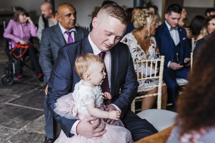 Baby Wedding Guest in Tulle Skirt