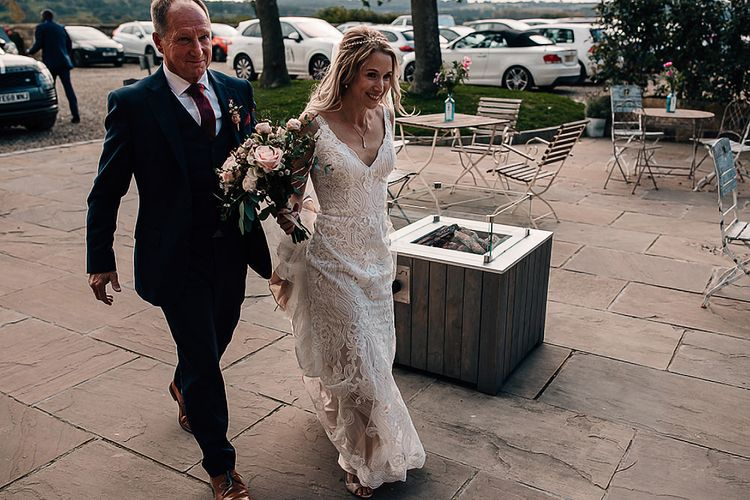 Bride in Madison James wedding dress