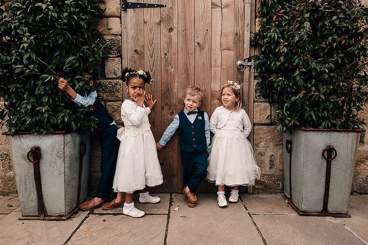 Flower girls and page boys at Wharfedale Grange wedding