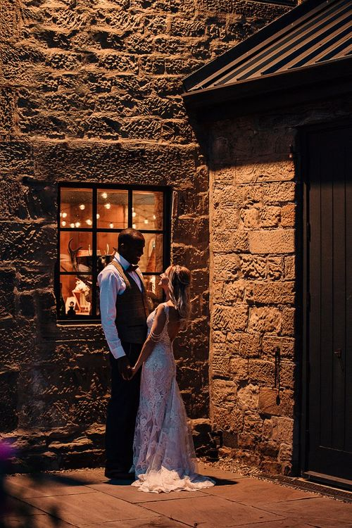 Bride and groom portrait at Wharfedale Grange wedding venue