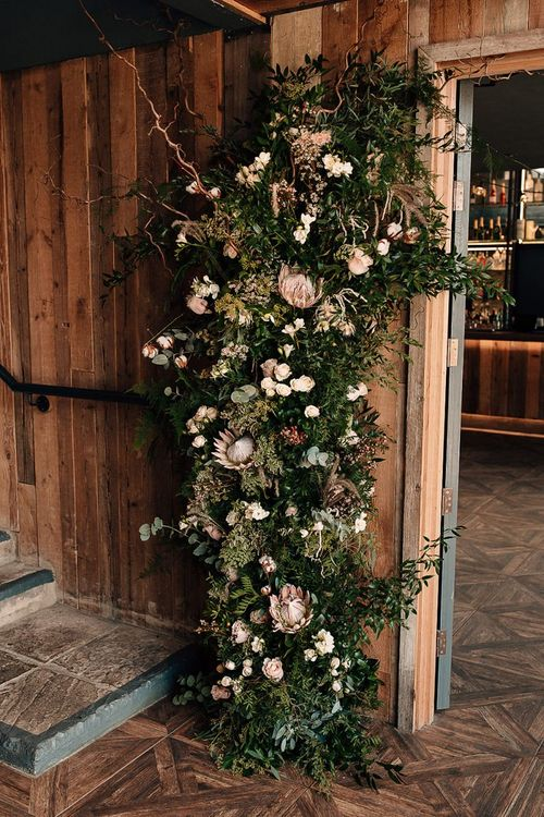 Wedding flower arrangement at Wharfedale Grange by Leafy Couture