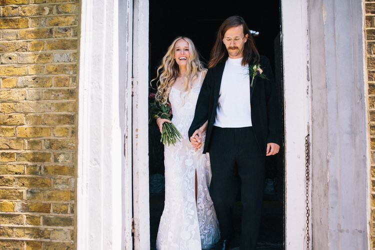 Wedding Ceremony At Asylum Chapel London // Image By Robbins Photographic