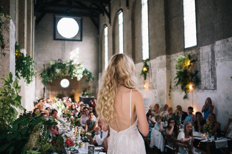 Bride Making A Wedding Speech // Image By Robbins Photographic