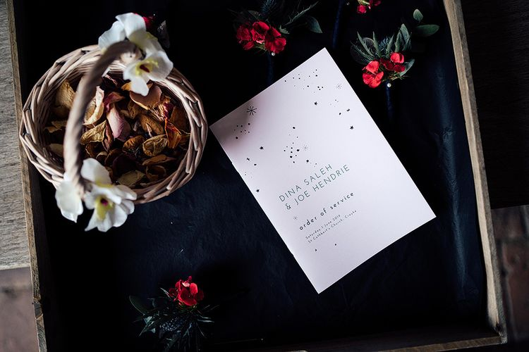 Order of Service Wedding Stationery Booklet