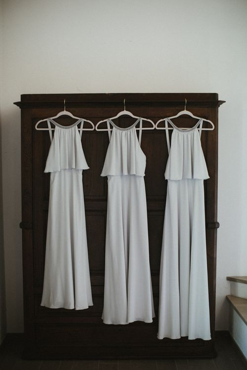 Halterneck Bridesmaids Dresses // Image By James Frost Photography