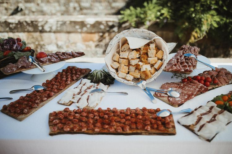 Italian Antipasti For Destination Wedding // Image By James Frost Photography