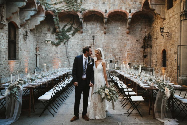Courtyard Setting For Wedding Reception // Image by James Frost Photography