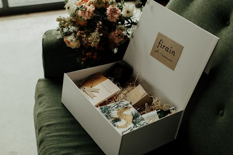 Bridesmaid gift box with unique gifts