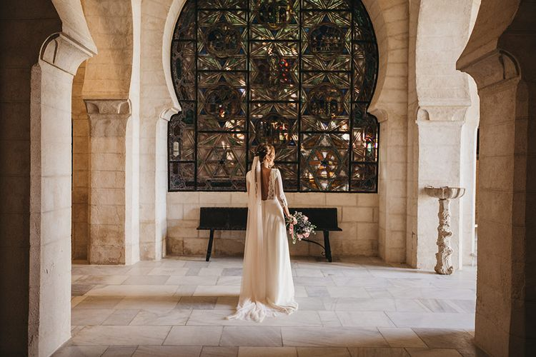 Spanish Castle Wedding With Bride In Backless Marcos Souza And Images From Lísola Photography