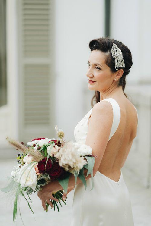 Vintage Bride in Backless Jenny Packham Gown | Glamorous, Roaring Twenties, Great Gatsby Inspired Wedding at Villa Borromeo  in Italy | Matrimoni all'Italiana Photography