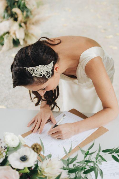 Bride in Silk Jenny Packham Gown | Glamorous, Roaring Twenties, Great Gatsby Inspired Wedding at Villa Borromeo  in Italy | Matrimoni all'Italiana Photography
