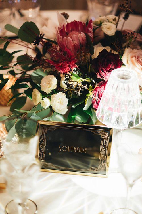 Black & Gold Art Decor Sign | Glamorous, Roaring Twenties, Great Gatsby Inspired Wedding at Villa Borromeo  in Italy | Matrimoni all'Italiana Photography