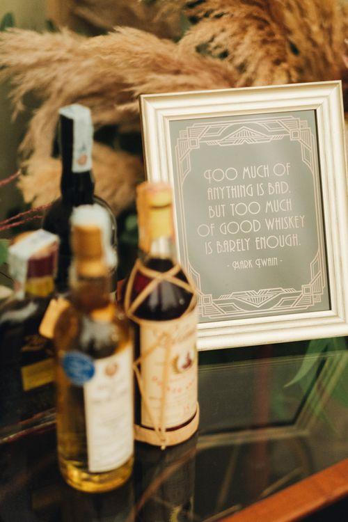 Black & Gold Art Decor Wedding Stationery | Glamorous, Roaring Twenties, Great Gatsby Inspired Wedding at Villa Borromeo  in Italy | Matrimoni all'Italiana Photography