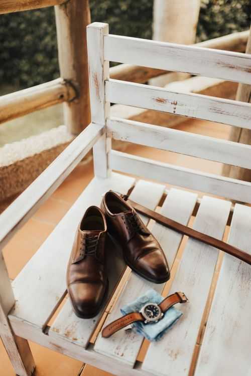 Groom Shoes and Watch
