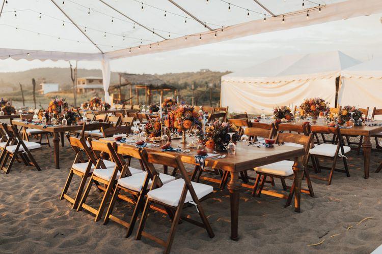 Ecuador Wedding Reception Set Up