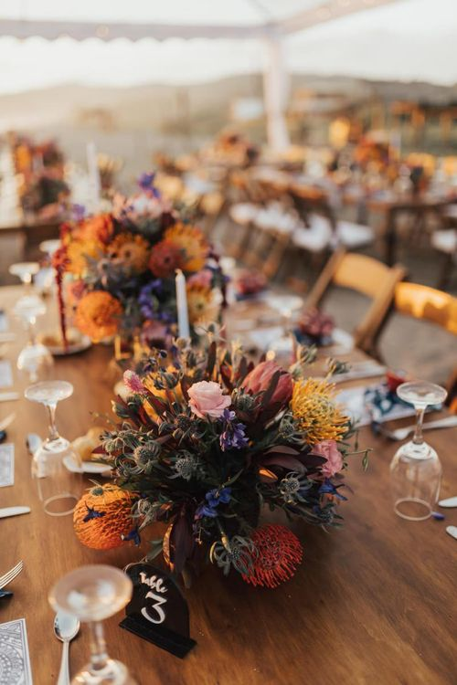 Bright Wedding Flowers for Table