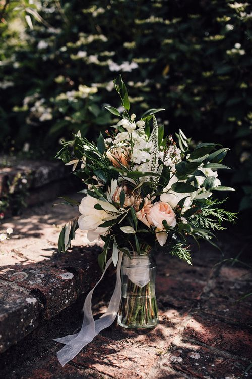 Wedding Bouquet With Foliage & David Austin Roses // Image  By Samuel Docker Photography