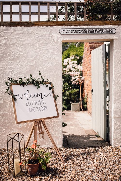 Welcome Sign For Wedding // Image By Samuel Docker Photography