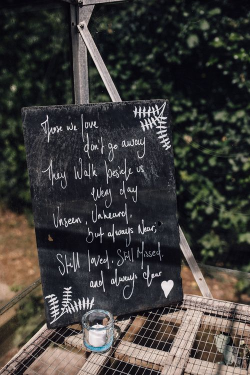 Chalkboard Sign For Wedding // Image By Samuel Docker Photography