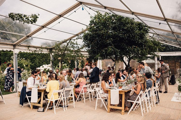 Clear Span Marquee For A Summer Wedding With Bride In 'Sasha' By Made With Love Bridal From Heart Aflutter Images From Samuel Docker Photography