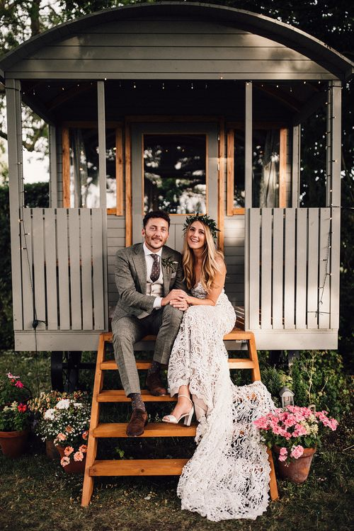 Glamping Shepherds Hut For Newly Weds // Image By Samuel Docker Photography