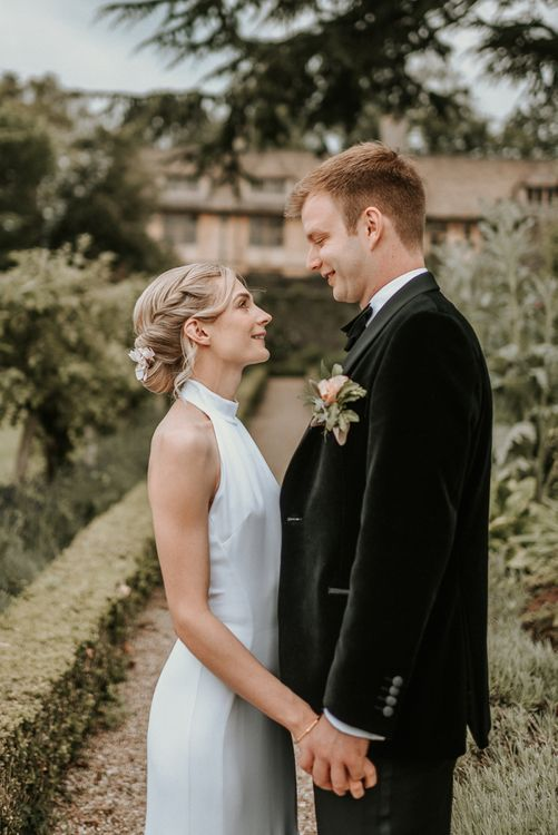 Stella McCartney Wedding Dress With Halterneck And Hair Up For Bride